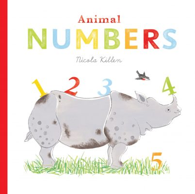 Animal Numbers Rhino with numbers on his back