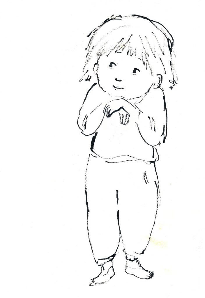 Drawing of girl.