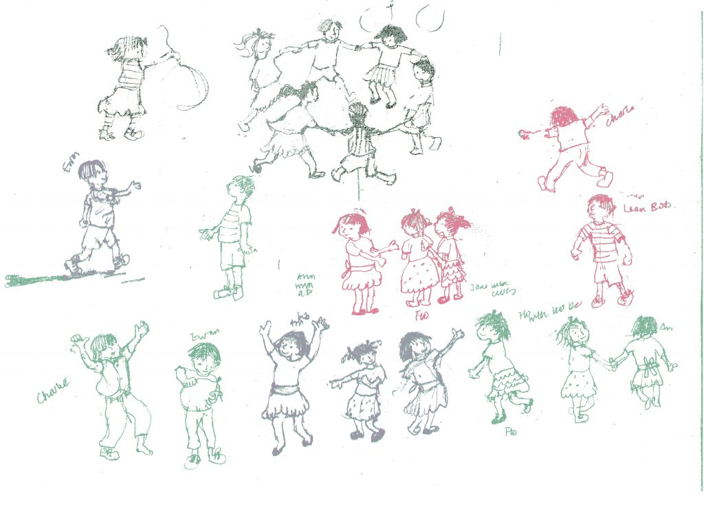 Sketches of children.