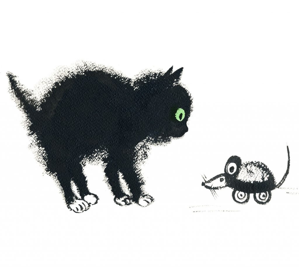 Black kitten, witches cat