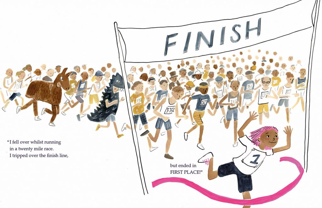 Lucy's Lace: Lucy wins a 20 mile race